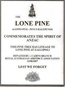 Lone Pine Plaque