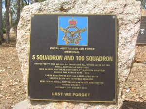 RAAF Plaque of No 5 Squadron and No 100 Squadron.