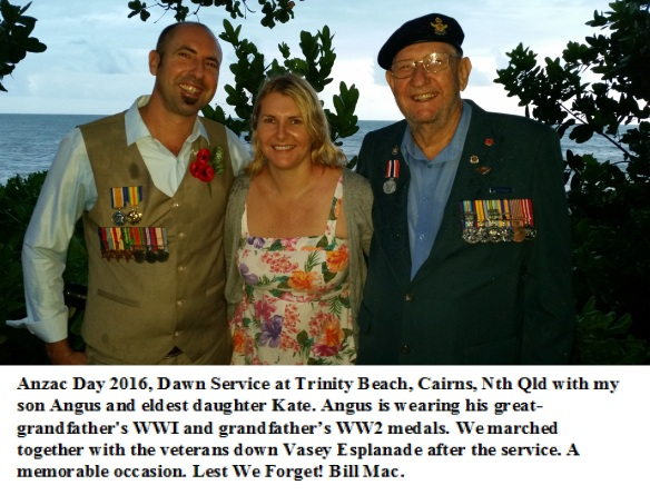 Bill Angus and Kate ANZAC day 2016